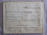 3 Page Antique June 1838 Leather Vellum Parchment with Wax Seals  LAYBY AVAIL
