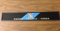 NEW & UNUSED Kanon Organic Vodka Rail Mat Blue Black Bar Counter Spill Rubber