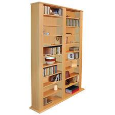 Genesis Large Media CD DVD Storage Shelves - Beech MS1000B
