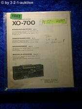 Sony Bedienungsanleitung XO 700 Compact System (#1002)
