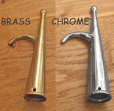 Boat hook head, hook & spike x ONE.   190mm x 33mm dia BRASS or CHROME xBH7125