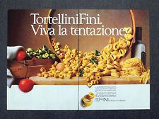 F753-Advertising Pubblicità- 1988 - FINI TORTELLINI VIVA LA TENTAZIONE