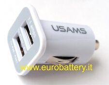 DUAL USB 3.1A IN CAR CHARGER per APPLE IPHONE 4 5 IPOD TOUCH NANO IPAD MINI Bian