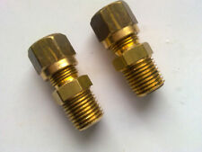 1/4 BSP To 8 mm Compression fitting in Nickel plated brass Qty 2            b335