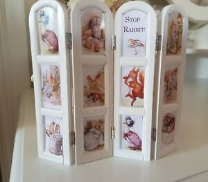 Miniature Doll House Accessories White Beatrix Potter Vanity Screen 1:12th scale