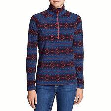 Eddie Bauer Ladies' ¼ Zip Fleece M 200-Weight Polyester Fleece Free Shipping NWT