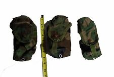 LOT OF 3 Military Surplus Woodland Camo M16A2 Double Magazine Ammo Utility Pouch