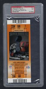PSA NMT 7 - VINTAGE 2006 NFL SUPER BOWL XL FULL TICKET STEELERS vs SEAHAWKS