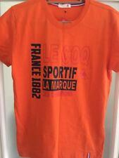 le coq sportif Men's Short Sleeve T-Shirt Orange Size M