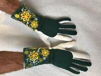 Gartenhandschuhe,  Rosenhandschuhe mit langer Stulpe Größe 9 L
