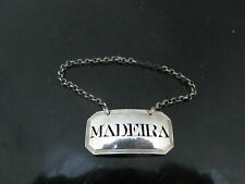 Antique GEORGE III Sterling Silver MADEIRA Wine Label by Susanna Barker 1792