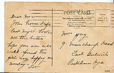 Genealogy Postcard - Family History - Grey - East Dulwich - Peckham Rye  U2580