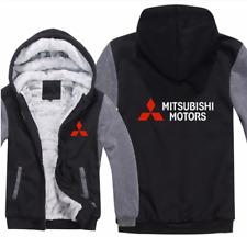Mitsubishi Motore Kapuze Reißverschluss Jacke Mantel Winter Warm Schwarz & Grau