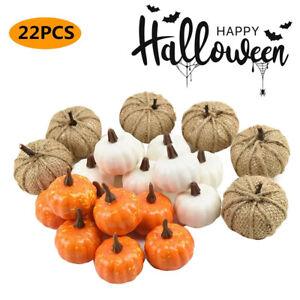 22Pcs Set Mini Artificial Foam Pumpkin Simulation Props Halloween Party Decor
