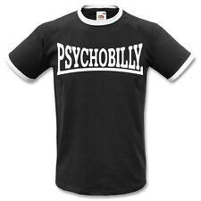 Psychobilly Ringer T-Shirt - Rockabilly,Rock 'N' Roll ,Punk,Todas las Tallas &