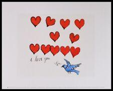 Andy Warhol I Love You pour Poster Art Imprimé Image dans le cadre alu noir 36x28cm