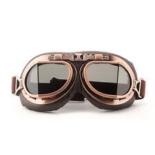Helmet Steampunk Coffee Motorcycle Flying Goggles Vintage Pilot Biker Smoke Lens