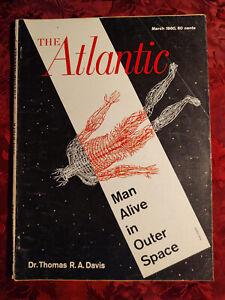 ATLANTIC March 1960 Ken W Purdy Peter Ustinov Curtis Cate Bergen Evans