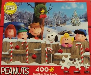 New Peanuts 400 Piece Together Time Puzzle Peanuts Winter Christmas Holiday
