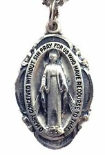 Sterling Silver Miraculous Medal 1 Inch NEW from CREED SKU SS1750