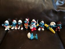 Lot of 9 W Germany Hong Kong Peyo Schleich Smurf Figure Toys Papa Doctor Archer