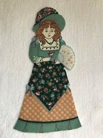 """Victorian Courtship Doll - 1 - Iron-On Fabric Appliques.. 6 7/8"""" Tall.  (F)"""
