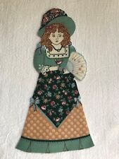 "Victorian Courtship Doll - 1 - Iron-On Fabric Appliques.. 6 7/8"" Tall.  (F)"