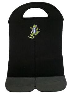 Amphibious Outfitters Neoprene 2 Bottle Wine Tote Scuba Diving Frog Logo WT0001B