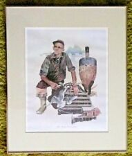 "SIGNED ARTIST PRINT BY JOHN ""JACK"" HAVEY TITLED: THE MAINE LOBSTERMAN FRAMED ME"