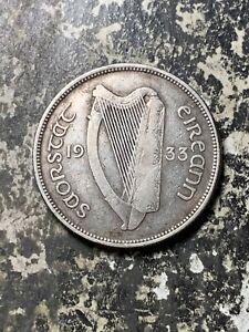 1933 Ireland 1 Florin Lot#Z6927 Silver!