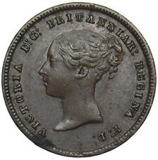 More details for 1844 half farthing - victoria british copper coin - nice
