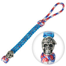 Unique Paracord Lanyard Keychain for Custom EDC Zipper Pull Charm SPECIAL SKULL