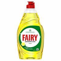 Fairy Original Lemon Washing Up Dishwashing Liquid - 433ml - Long Lasting Suds