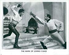 1940 The Mark of Zorro Printed 1993 Tyrone Power  Original Press Photo