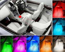 4 x 9 LED RGB Decoration Lights Strip Colorful Remote Control Car Interior Floor