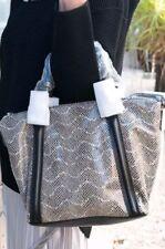 💕💕💕$450 MIMCO Leather Supernatural Mini Tote Shoulder Bag Satchel Black Snake