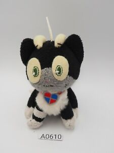 "Ao no Blue Exorcist A0610 Cait Sith Kuro Cat Strap Mascot Plush 4"" Toy Japan"