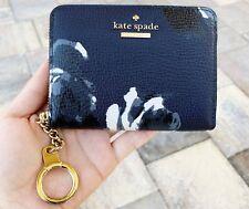 Kate Spade Briar Lane Night Rose Dani Key Ring Small Coin Wallet Leather