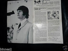 THE BEATLES OFFICIAL UK FAN CLUB SUMMER 1965 NEWSLETTER 12 PAGE BOOKLET GRAND