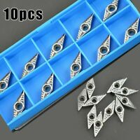 10PCS For Aluminum VCGT110308-AK H01 Silver Inserts Silver Lathe Cutting Tools