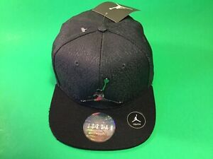 New JORDAN Jumpman Basketball NBA Youth Boys SnapBack Hat One Size Grey w/Black