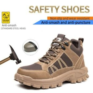 Mens Safety Shoes Trainers Steel Toe Cap Hiking Boots Lightweight Bulletproof