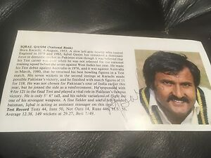 Iqbal Qasim cricket signed Pakistan