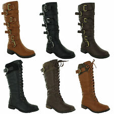 Unbranded Women's Lace Up Knee High Boots