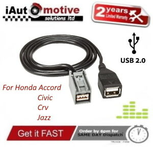 USB iPod Flash Stick Adaptor Cable For Honda Civic Accord Jazz Fit CRV Insight
