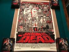 Shaun of the Dead Variant Signed By Tyler Stout Mondo Art Print Mint
