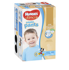 NEW HUGGIES NAPPY PANTS JUMBO PACK JUNIOR BOY SKIN CARE CLEAN & DRY PROTECT
