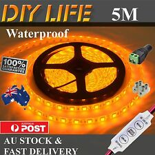 Waterproof 12V Amber Yellow 5M 5050 SMD 300 LED Strips Led Strip Lights boat Dim