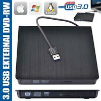 External USB 3.0 CD DVD RW Drive Writer Burner Reader for Windows Mac Laptop PC
