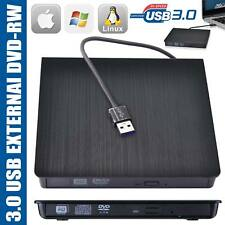 External USB 3.0 CD DVD RW Drive Writer Burner Reader for Windows Mac Laptop PC
